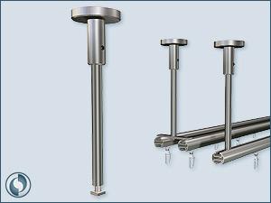 Ceiling bracket for aluminium Profile, stainless steel.
