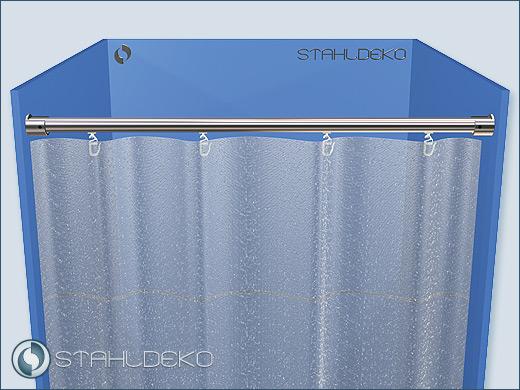 20mm Aluminium Shower Curtain Rod Straight Divider