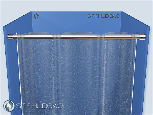 Shower Curtain Rod Stainless Steel 20 Dividers