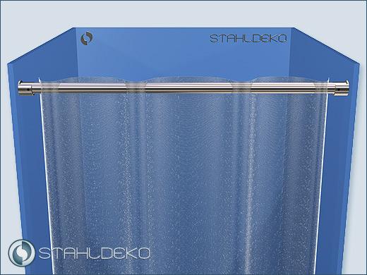 Bath accessories: Ø 20mm stainless steel shower curtain rod ...