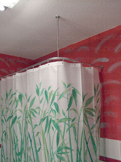 Bathroom furnishing: Ø 20mm angle shower curtain rod, L-shaped ...