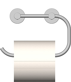 WC-Paper holder with wall mounting