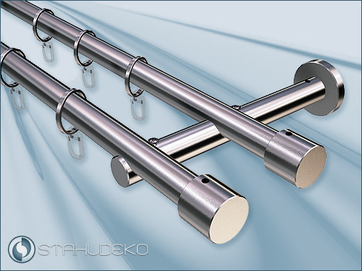 Sont 20 Zylinder Double Curtain Rod For Contract
