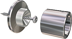 Bath article : mounting system Wandlager 20 for shower curtain rods 20mm V2A-stainless steel