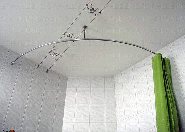 Shower Curtain Rod For Quadrant Shower Tubs With Aluminium