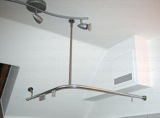Bath Design 216 20mm U Shape Aluminium Shower Curtain Rod